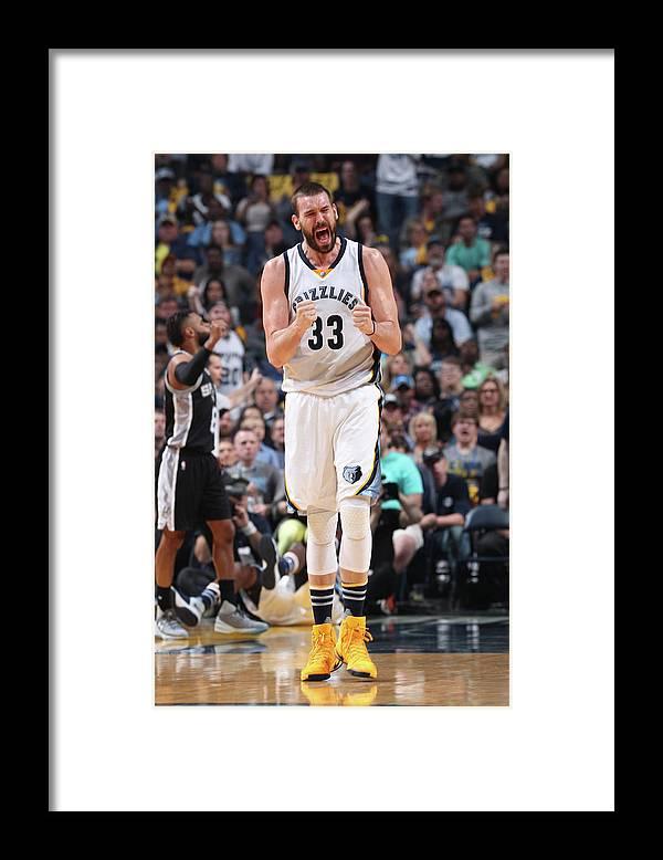 Playoffs Framed Print featuring the photograph Marc Gasol by Joe Murphy