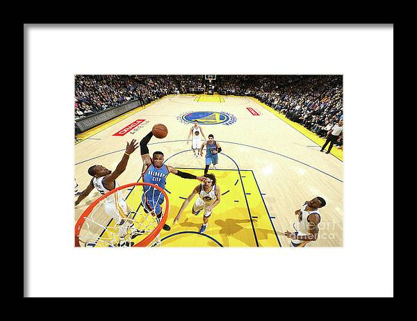 Nba Pro Basketball Framed Print featuring the photograph Russell Westbrook by Nathaniel S. Butler