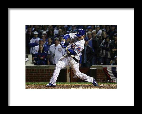 Ninth Inning Framed Print featuring the photograph Anthony Rizzo by Jonathan Daniel