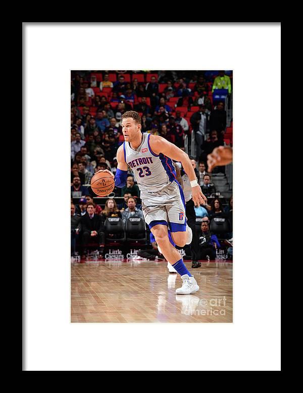 Sports Ball Framed Print featuring the photograph Blake Griffin by Chris Schwegler