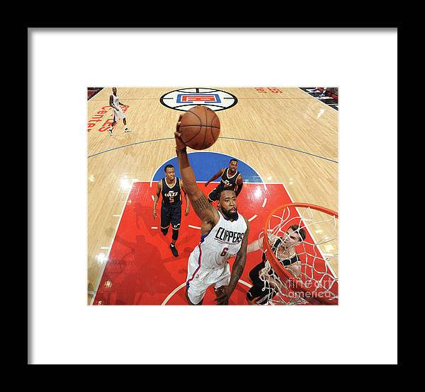 Playoffs Framed Print featuring the photograph Deandre Jordan by Andrew D. Bernstein