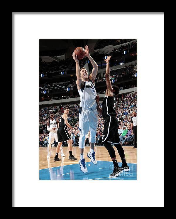 Nba Pro Basketball Framed Print featuring the photograph Dirk Nowitzki by Glenn James
