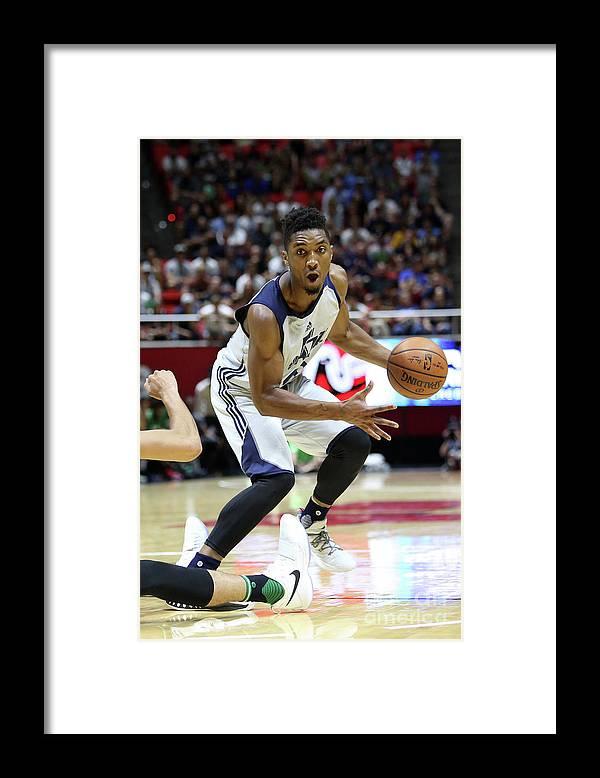 Nba Pro Basketball Framed Print featuring the photograph Donovan Mitchell by Melissa Majchrzak