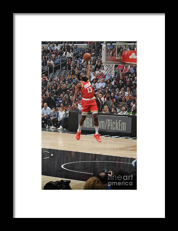 Nba Pro Basketball Framed Print featuring the photograph James Harden by Andrew D. Bernstein