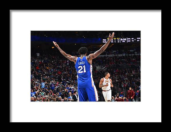 Crowd Framed Print featuring the photograph Joel Embiid by Jesse D. Garrabrant