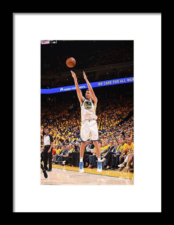 Playoffs Framed Print featuring the photograph Klay Thompson by Noah Graham