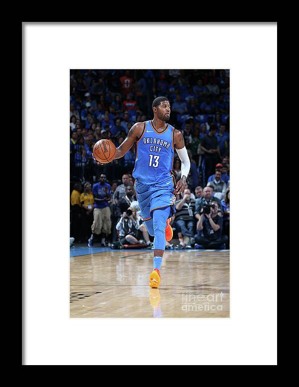 Nba Pro Basketball Framed Print featuring the photograph Paul George by Layne Murdoch