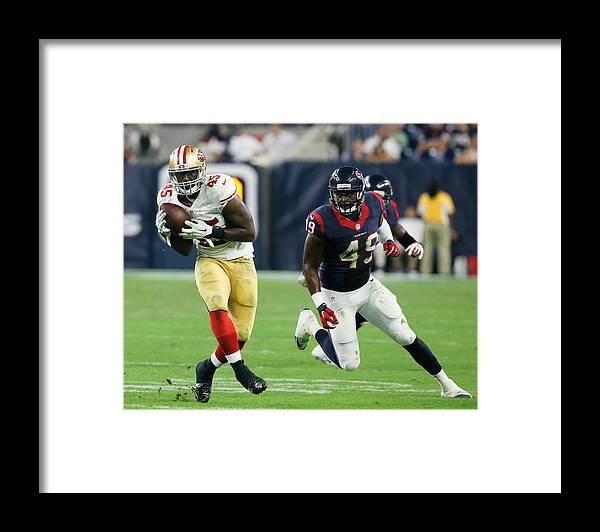 Houston Texans Framed Print featuring the photograph San Francisco 49ers v Houston Texans by Bob Levey
