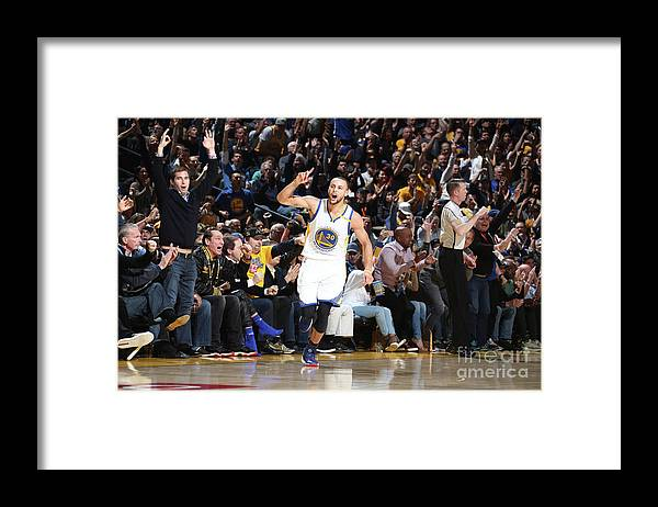 Nba Pro Basketball Framed Print featuring the photograph Stephen Curry by Nathaniel S. Butler