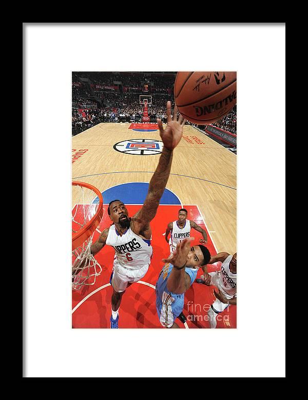 Nba Pro Basketball Framed Print featuring the photograph Deandre Jordan by Andrew D. Bernstein