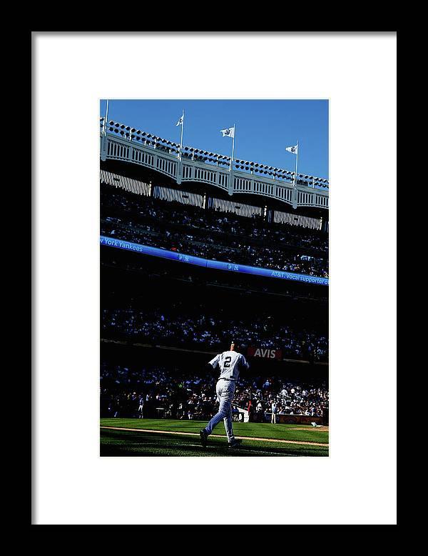 American League Baseball Framed Print featuring the photograph Derek Jeter by Elsa