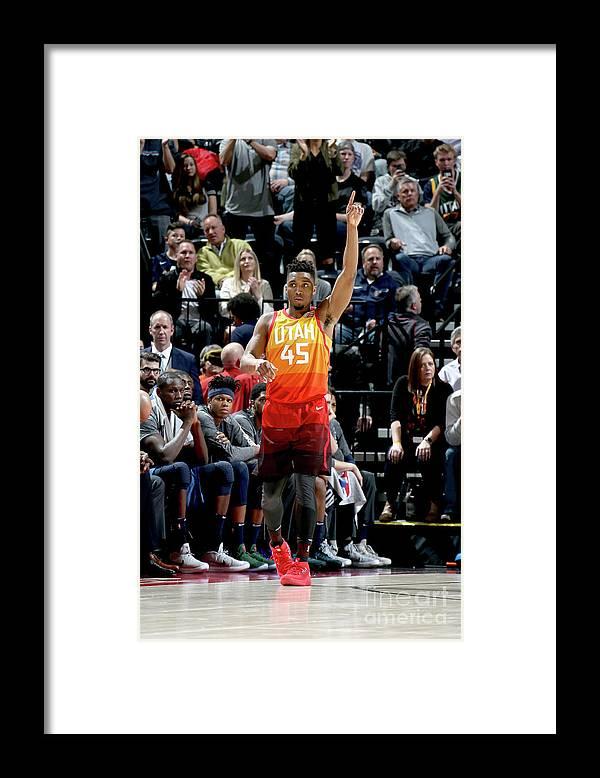 Crowd Framed Print featuring the photograph Donovan Mitchell by Melissa Majchrzak