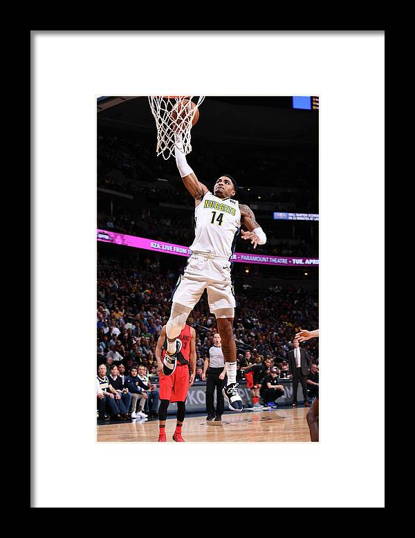 Nba Pro Basketball Framed Print featuring the photograph Gary Harris by Garrett Ellwood