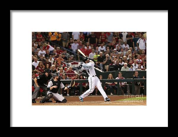 Playoffs Framed Print featuring the photograph Paul Goldschmidt by Christian Petersen