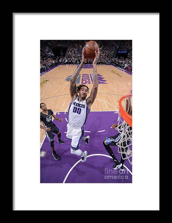 Nba Pro Basketball Framed Print featuring the photograph Willie Cauley-stein by Rocky Widner