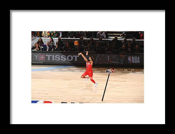 Nba Pro Basketball Framed Print featuring the photograph 69th NBA All-Star Game by Garrett Ellwood