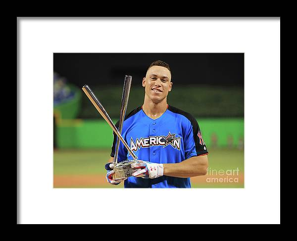 People Framed Print featuring the photograph Aaron Judge by Mike Ehrmann