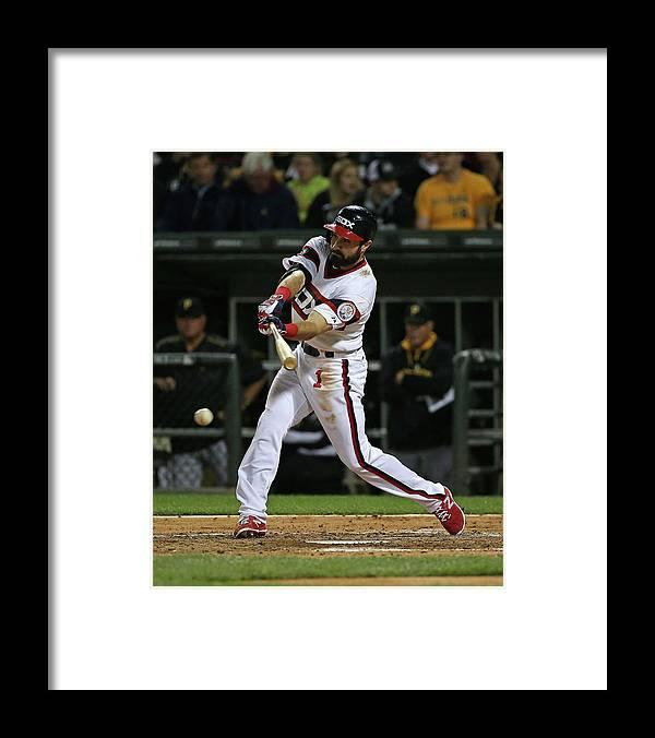 American League Baseball Framed Print featuring the photograph Adam Eaton by Jonathan Daniel