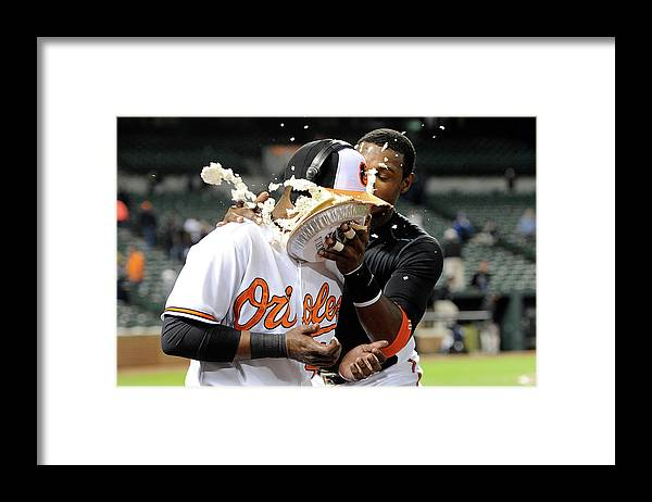 People Framed Print featuring the photograph Adam Jones by Greg Fiume
