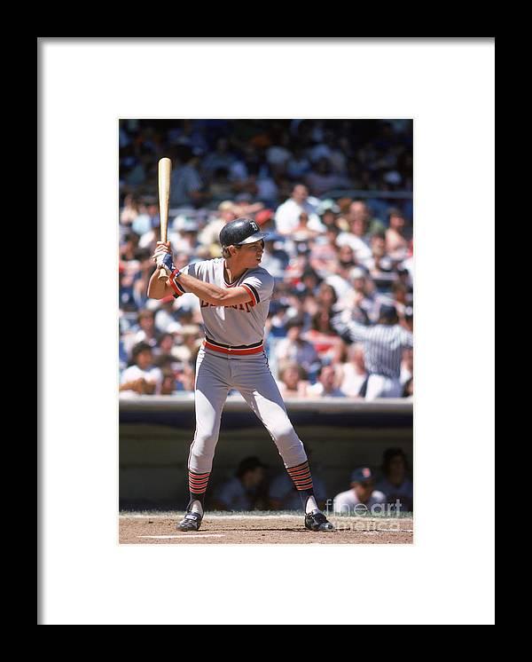 American League Baseball Framed Print featuring the photograph Alan Trammell by Rich Pilling