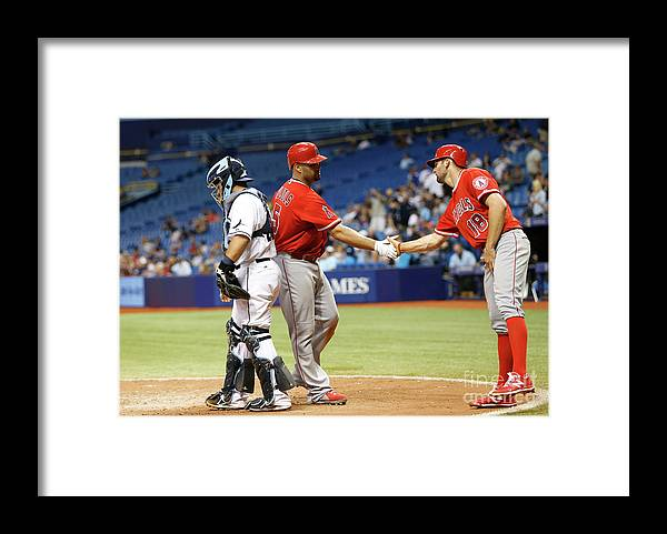 Ninth Inning Framed Print featuring the photograph Albert Pujols by Brian Blanco