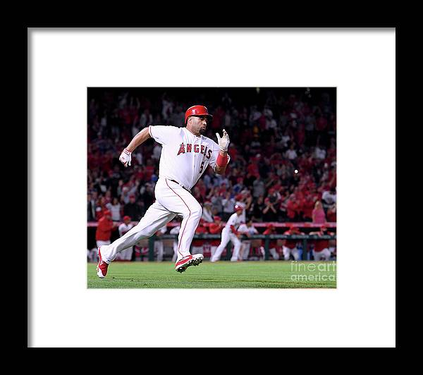 Second Inning Framed Print featuring the photograph Albert Pujols by Harry How