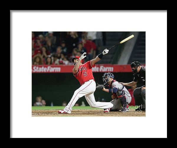 People Framed Print featuring the photograph Albert Pujols by Stephen Dunn