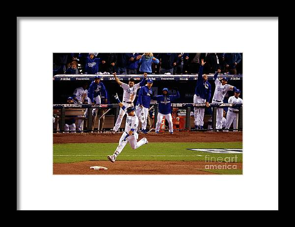 Ninth Inning Framed Print featuring the photograph Alex Gordon by Christian Petersen