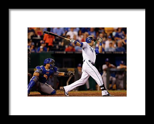 American League Baseball Framed Print featuring the photograph Alex Gordon by Jamie Squire