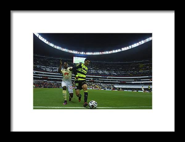 Event Framed Print featuring the photograph America v Santos Laguna - Torneo Apertura 2016 Liga MX by Miguel Tovar