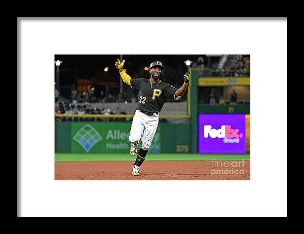 Second Inning Framed Print featuring the photograph Andrew Mccutchen by Justin Berl