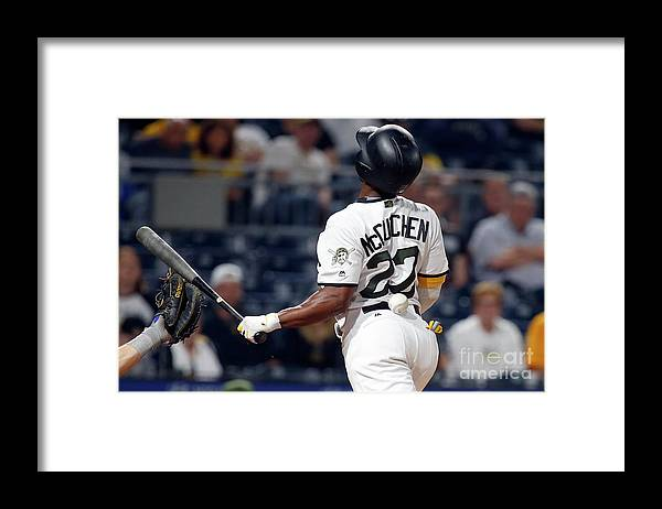 Three Quarter Length Framed Print featuring the photograph Andrew Mccutchen by Justin K. Aller