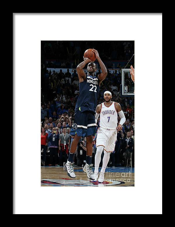 Nba Pro Basketball Framed Print featuring the photograph Andrew Wiggins by Layne Murdoch