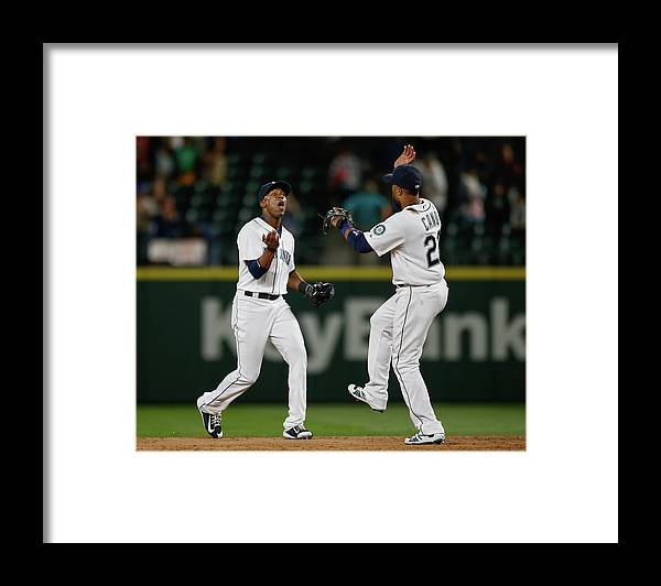 People Framed Print featuring the photograph Austin Jackson by Otto Greule Jr