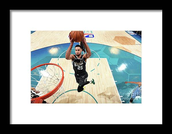 Nba Pro Basketball Framed Print featuring the photograph Ben Simmons by Andrew D. Bernstein