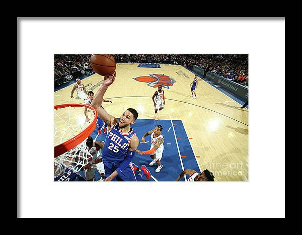 Sports Ball Framed Print featuring the photograph Ben Simmons by Nathaniel S. Butler