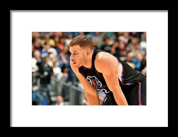 Nba Pro Basketball Framed Print featuring the photograph Blake Griffin by Fernando Medina