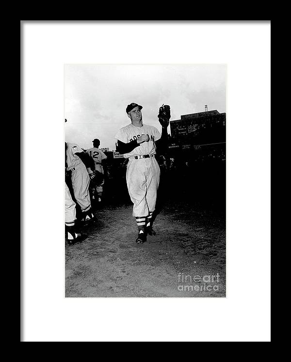 People Framed Print featuring the photograph Bobby Doerr by Kidwiler Collection