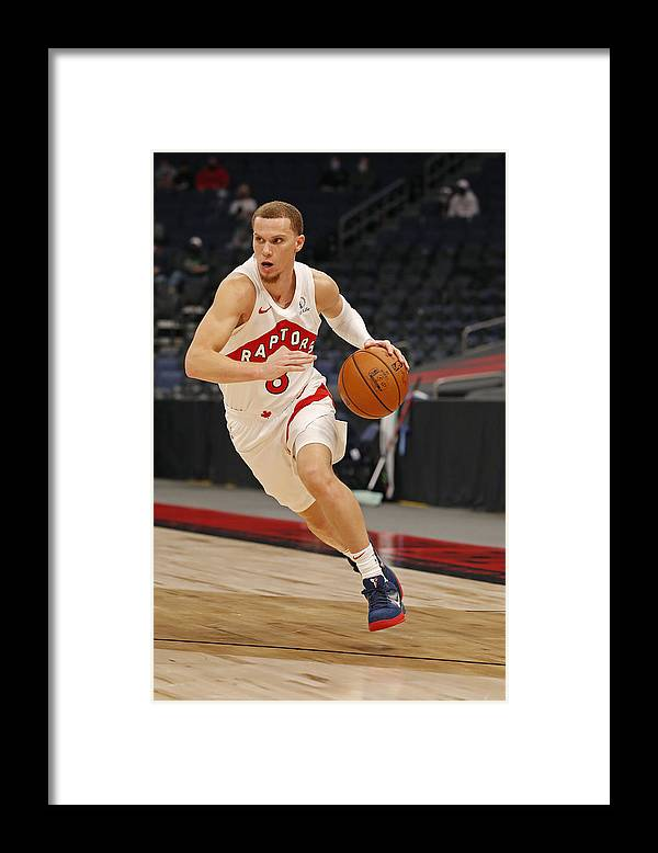 Nba Pro Basketball Framed Print featuring the photograph Boston Celtics v Toronto Raptors by Scott Audette