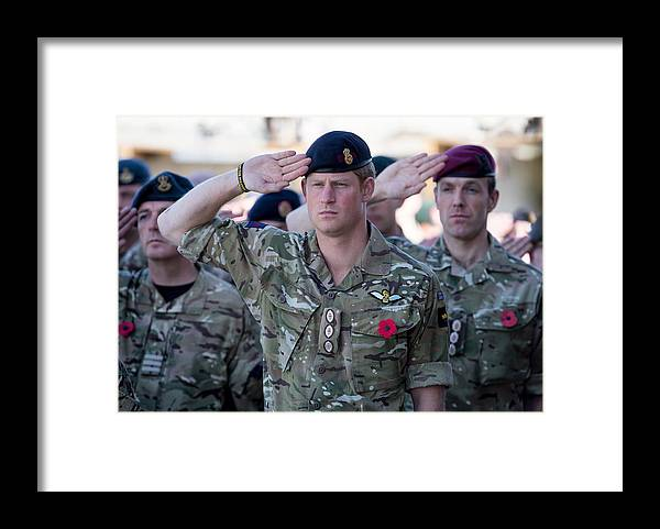 Royalty Framed Print featuring the photograph British Troops In Kandahar Participate In A Remembrance Sunday Service by Matt Cardy
