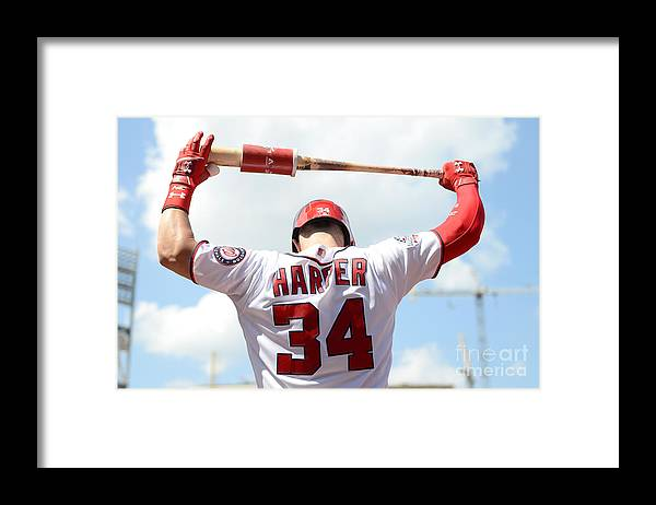People Framed Print featuring the photograph Bryce Harper by Greg Fiume