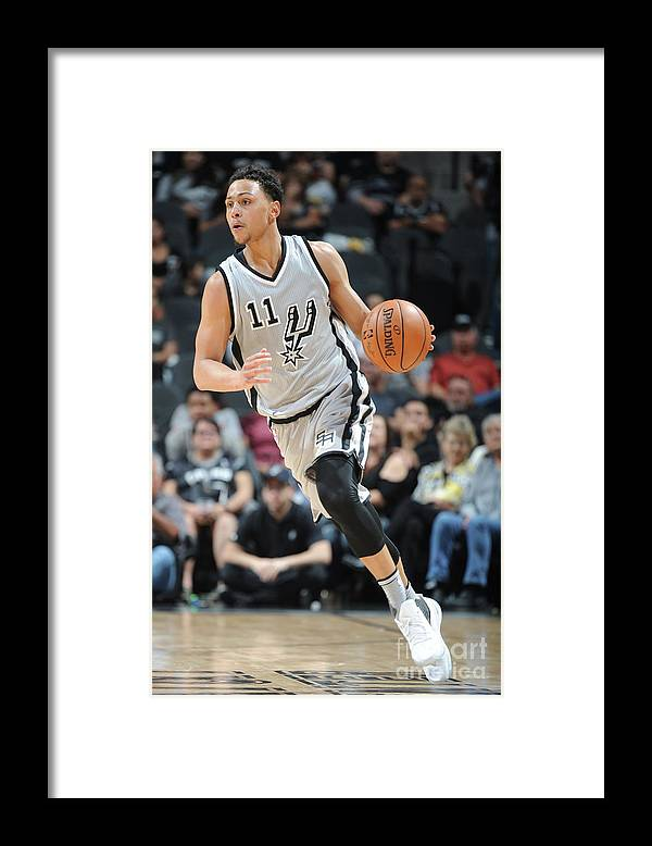Nba Pro Basketball Framed Print featuring the photograph Bryn Forbes by Mark Sobhani