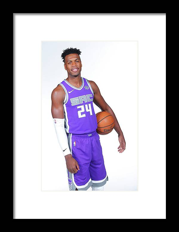 Media Day Framed Print featuring the photograph Buddy Hield by Rocky Widner