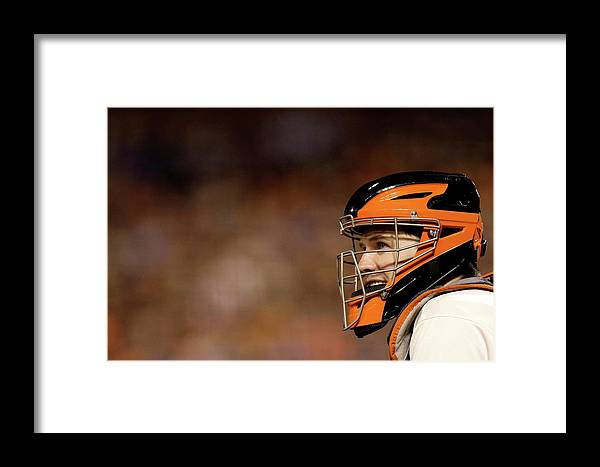 San Francisco Framed Print featuring the photograph Buster Posey by Ezra Shaw