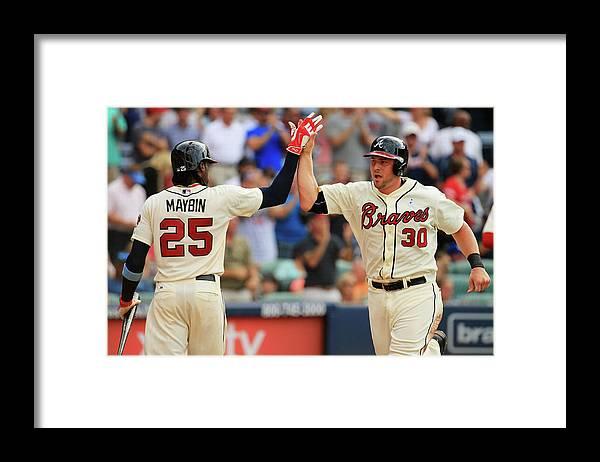 Atlanta Framed Print featuring the photograph Cameron Maybin by Daniel Shirey