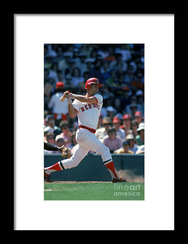 American League Baseball Framed Print featuring the photograph Carl Yastrzemski by Rich Pilling