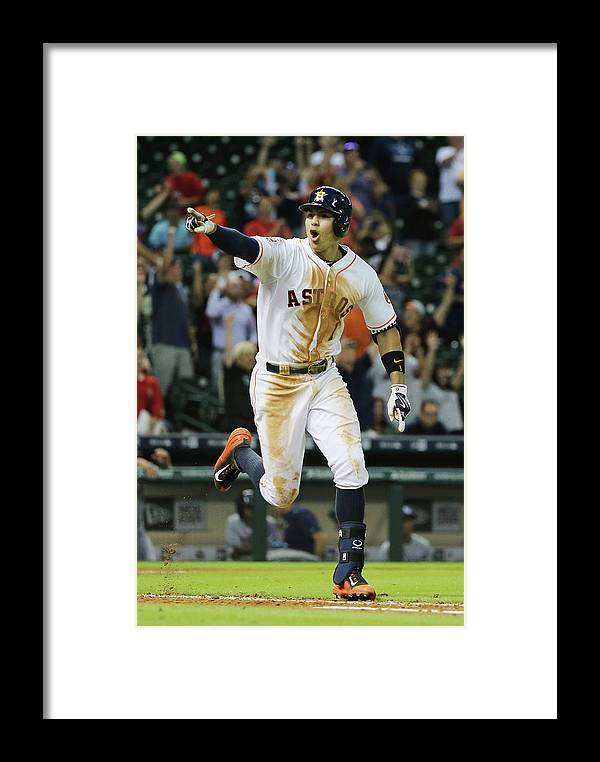 People Framed Print featuring the photograph Carlos Correa by Scott Halleran