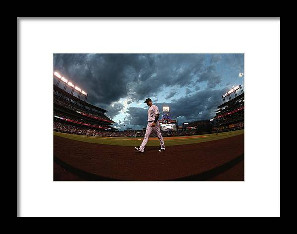 People Framed Print featuring the photograph Carlos Gonzalez by Doug Pensinger