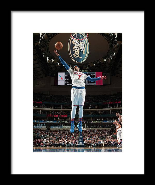 Nba Pro Basketball Framed Print featuring the photograph Carmelo Anthony by Glenn James