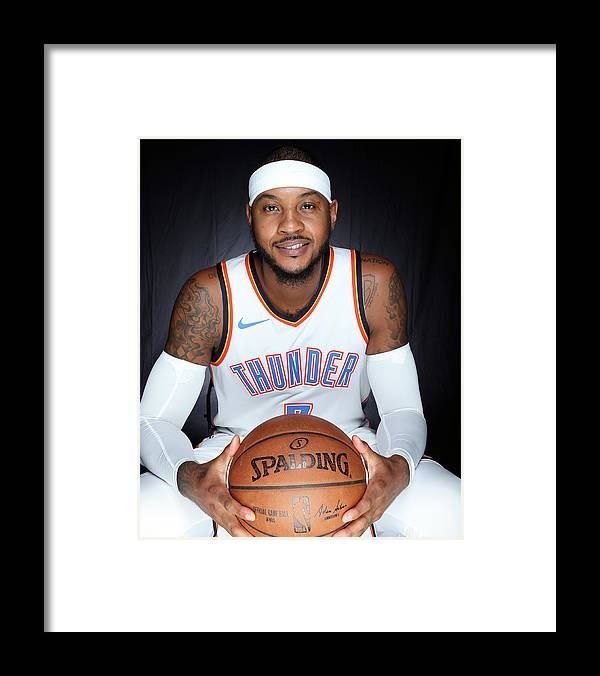 Media Day Framed Print featuring the photograph Carmelo Anthony by Layne Murdoch